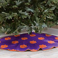 Clemson Tigers 52-Inch Christmas Tree Skirt