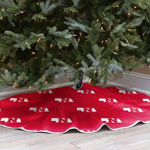Nebraska Cornhuskers 52-Inch Christmas Tree Skirt