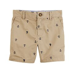 Toddler Boy Carter's Anchor & Boat Schiffli Khaki Shorts