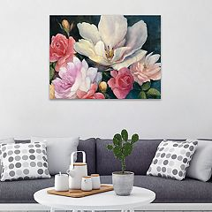 Artissimo Designs Flemish Fantasy Rose Crop Canvas Wall Art