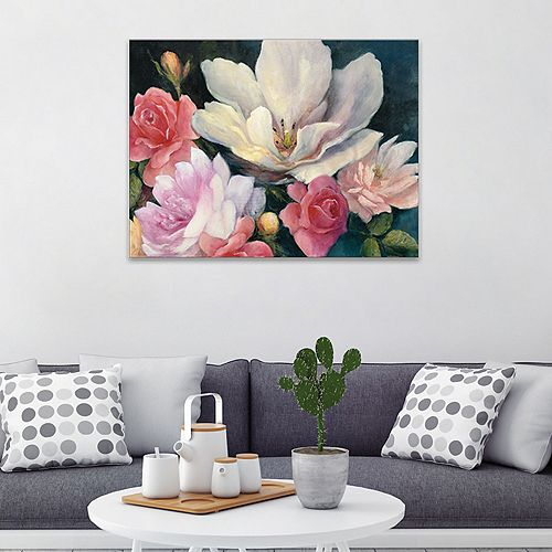 Artissimo Designs Flemish Fantasy Rose Crop Canvas Wall Art