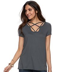 Women's Rock & Republic® Strappy Tee