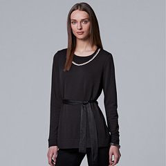 Women's Simply Vera Vera Wang Embellished Top