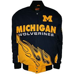Men's Franchise Club Michigan Wolverines Hot Route Twill Jacket