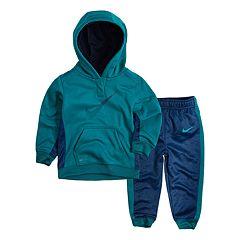 Baby Boy Nike Therma Pullover Hoodie & Pants Set