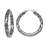 Simply Vera Vera Wang Simulated Crystal Nickel Free Hoop Earrings