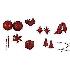 Northlight Shatterproof Christmas Ornament 125-piece Set