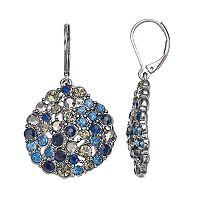 Simply Vera Vera Wang Simulated Crystal Cluster Nickel Free Drop Earrings