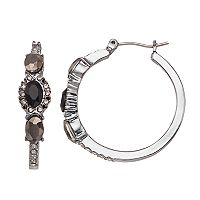 Simply Vera Vera Wang Oval Stone Nickel Free Hoop Earrings
