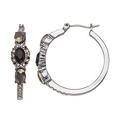Simply Vera Vera Wang Oval Stone Nickel Free Hoop Earrings