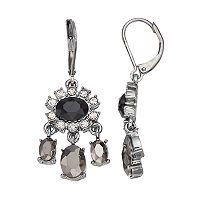Simply Vera Vera Wang Oval Stone Nickel Free Chandelier Earrings
