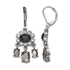 Simply Vera Vera Wang Oval Stone Nickel Free Chandelier Earrings