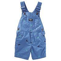Baby Boy OshKosh B'gosh® Embroidered Crocodile Shortalls