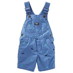 Baby Boy OshKosh B'gosh® Embroidered Crocodile Shortalls