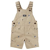 Baby Boy OshKosh B'gosh® Embroidered Whale & Anchor Shortalls