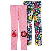 Toddler Girl Carter's 2 pkPrinted Leggings