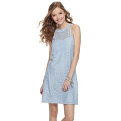 Juniors' Candie's® Lace Halter Shift Dress