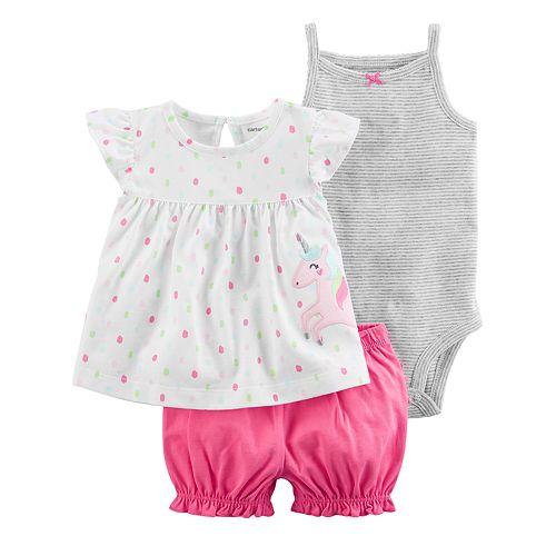 1c1080183e Baby Girl Carter s Striped Bodysuit