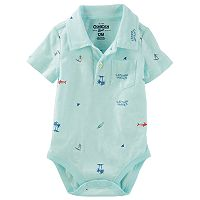 Baby Boy OshKosh B'gosh® Surf & Palm Tree Polo Bodysuit