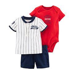 Baby Boy Carter's Graphic Bodysuit, 'All-Star' Henley & Shorts Set