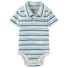 Baby Boy OshKosh B'gosh® Striped Polo Bodysuit