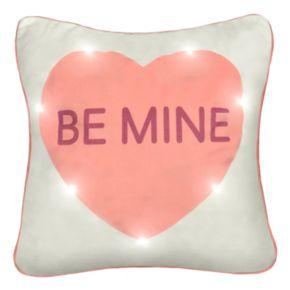 Spencer Home Decor ''Be Mine'' Light Up Throw Pillow