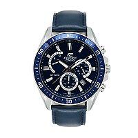 Casio Men's EDIFICE Leather Chronograph Watch - EFR-552L-2AVCF