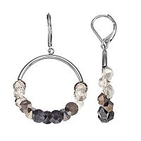 Simply Vera Vera Wang Ombre Nickel Free Hoop Drop Earrings