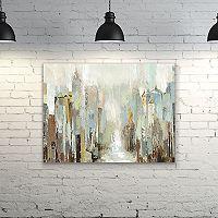 Artissimo Designs Misty City Canvas Wall Art