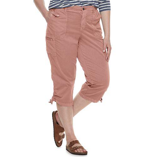 Plus Size SONOMA Goods for Life™ Utility Capri Pants
