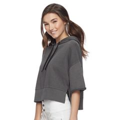 Juniors' SO® French Terry Cropped Hoodie