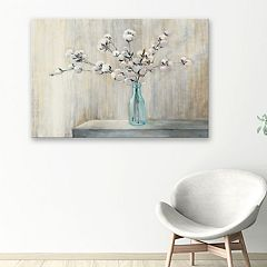 Artissimo Designs Cotton Bouquet Canvas Wall Art