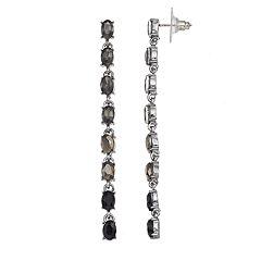 Simply Vera Vera Wang Oval Link Nickel Free Linear Earrings