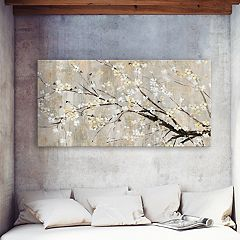 Artissimo Designs Silver Apple Bloom I Canvas Wall Art