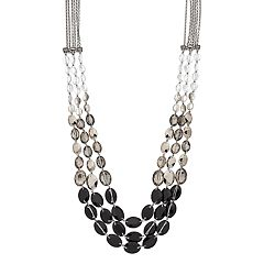 Simply Vera Vera Wang Long Beaded Ombre Multi Strand Necklace
