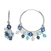 Simply Vera Vera Wang Bead Fringe Nickel Free Hoop Earrings