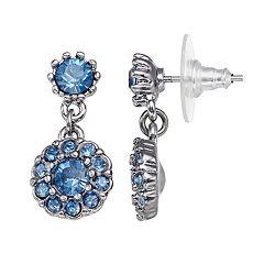 Simply Vera Vera Wang Halo Nickel Free Double Drop Earrings
