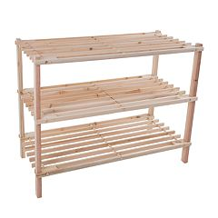 Portsmouth Home Wood 3 tier Space Saver Shoe Rack