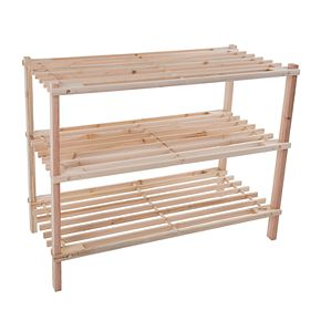 Portsmouth Home Wood 3-Tier Space Saver Shoe Rack
