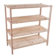 Portsmouth Home Wood 4-Tier Space Saver Shoe Rack