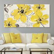 Artissimo Designs Windy Yellow Canvas Wall Art