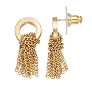 Simply Vera Vera Wang Knotted Chain Nickel Free Drop Earrings