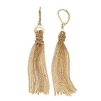 Simply Vera Vera Wang Knotted Tassel Nickel Free Linear Earrings