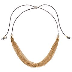 Simply Vera Vera Wang Two Tone Swag Lariat Necklace