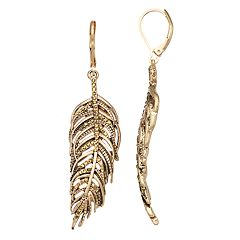 Simply Vera Vera Wang Feather Nickel Free Drop Earrings