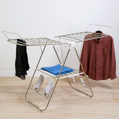 Portsmouth Home Heavy Duty Laundry Drying Rack & Hanging Rod