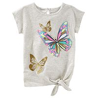 Toddler Girl OshKosh B'gosh® Glittery Butterfly Graphic Tee