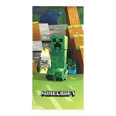 Minecraft Mob Emerge Beach Towel