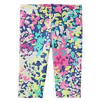 Toddler Girl OshKosh B'gosh® Watercolor Floral Capri Leggings