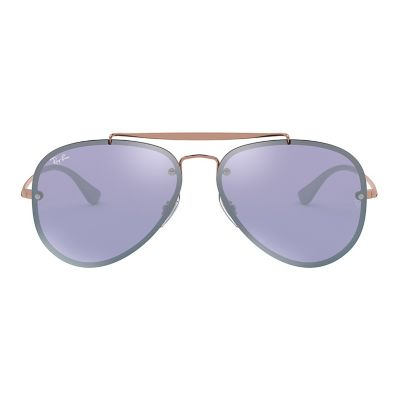 Ray-Ban Blaze RB3584N 58mm Aviator Mirror Sunglasses